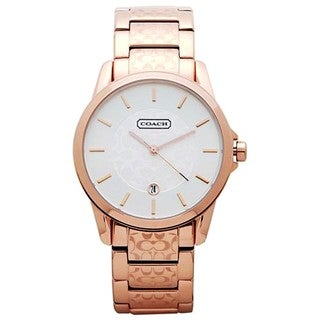 Coach Men's 14601259 Oversized Round Rose Gold-tone Stainless Steel Bracelet Watch