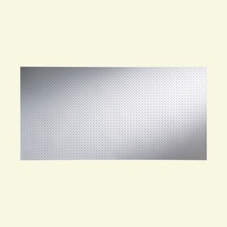 Fasade Diamond Plate Gloss White 4-foot x 8-foot Wall Panel