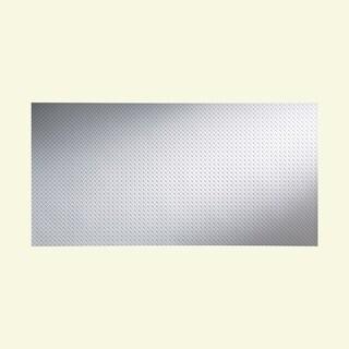 Fasade Diamond Plate Matte White 4-foot x 8-foot Wall Panel