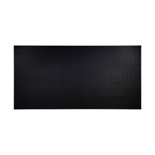 Fasade Diamond Plate Black 4-foot x 8-foot Wall Panel