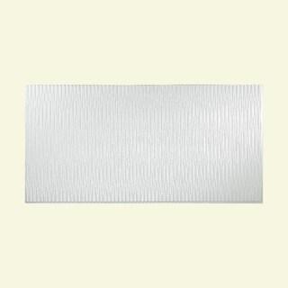 Fasade Dunes Vertical Matte White 4-foot x 8-foot Wall Panel