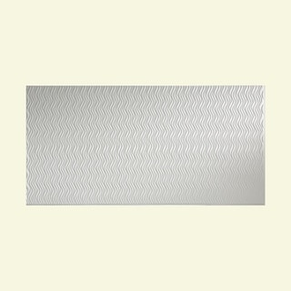 Fasade Current Vertical Matte White 4 x 8-foot Wall Panel