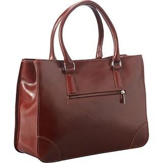 Raisin Brown Italian Leather Handbag Tote