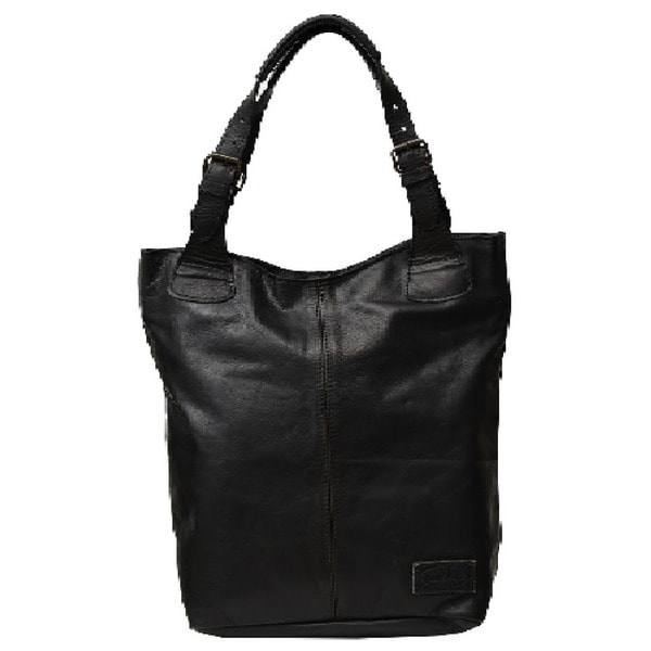 Black Soft Leather Handbag Tote