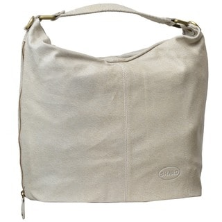 Large Beige Soft Italian Leather Hobo