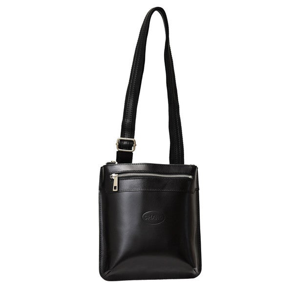 Small Black Italian Leather Crossbody Bag