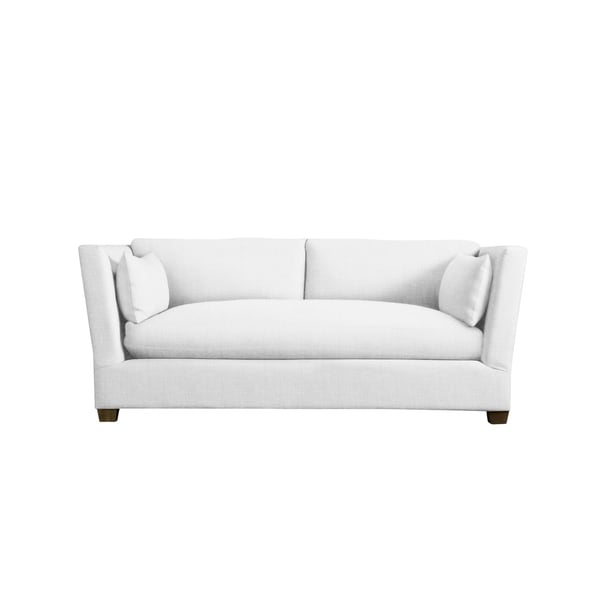 White Linen Foley Sofa