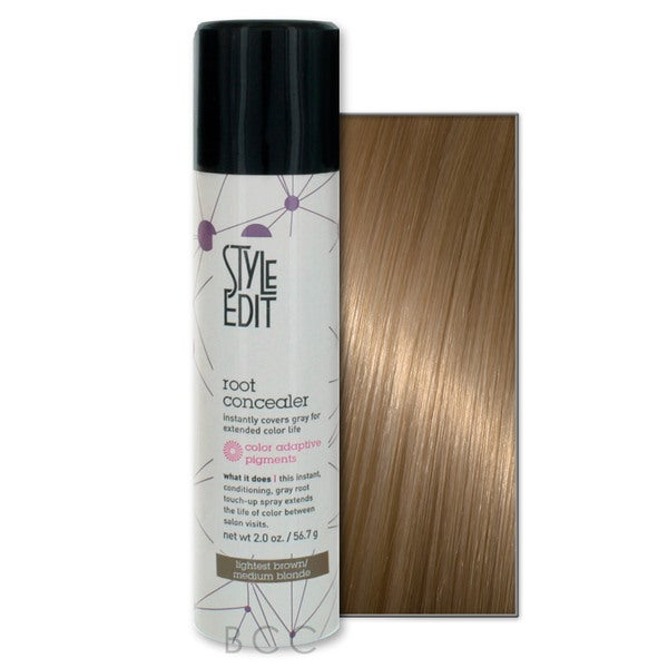 Style Edit Conceal Your Gray Hair Color Touch Up Root Spray (Lightest Brown/Medium Blonde)