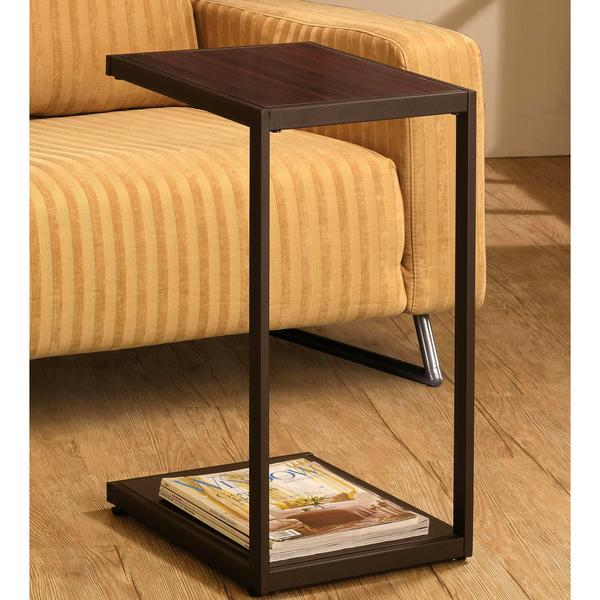Ellie Contemporary Dark Brown Snack Side Table