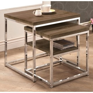 Mergot Trendy Weathered 2-piece Nesting Table Set