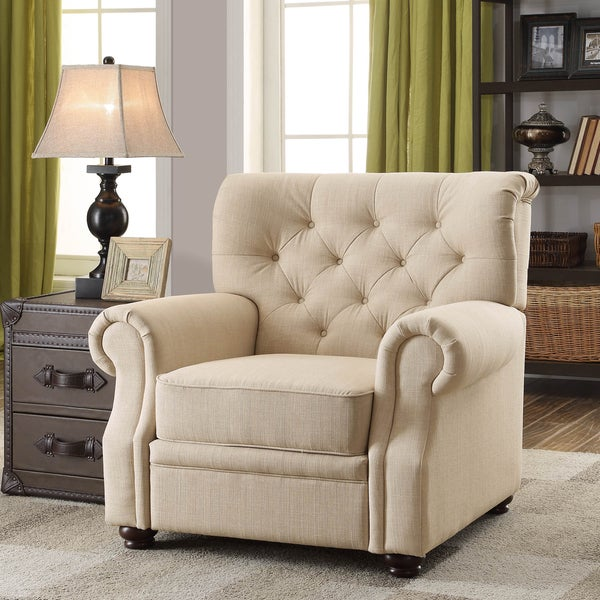 Ventura Beige Contoured Backrest Upholstered Chair