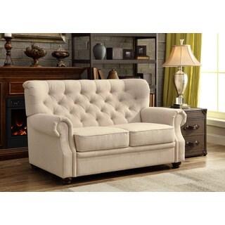 Moser Bay Furniture Ventura Beige Contoured Backrest Upholstered Loveseat