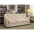 Moser Bay Furniture Ventura Beige Contoured Backrest Upholstered Sofa