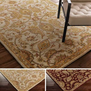 Hand-Tufted Early Floral Wool Rug (8' x 11')
