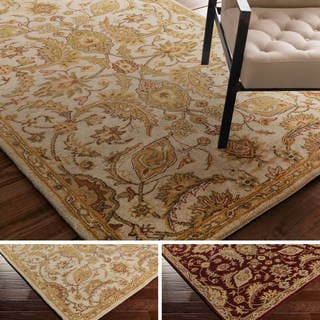 Hand-Tufted Early Floral Wool Rug (7'6 x 9'6)