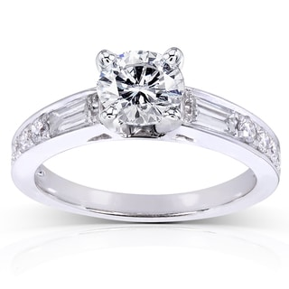 Annello 14k White Gold 1 1/2ct TDW Round Diamond Engagement Ring (H-I, I1-I2)