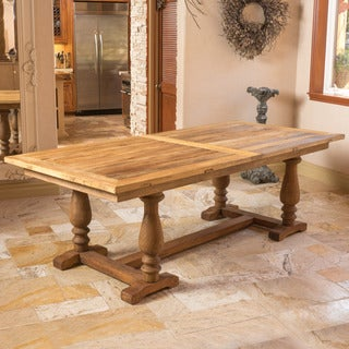 Christopher Knight Home Westland Elm Wood Rectangle Dining Table