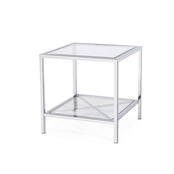 Gardner End Table, Silver