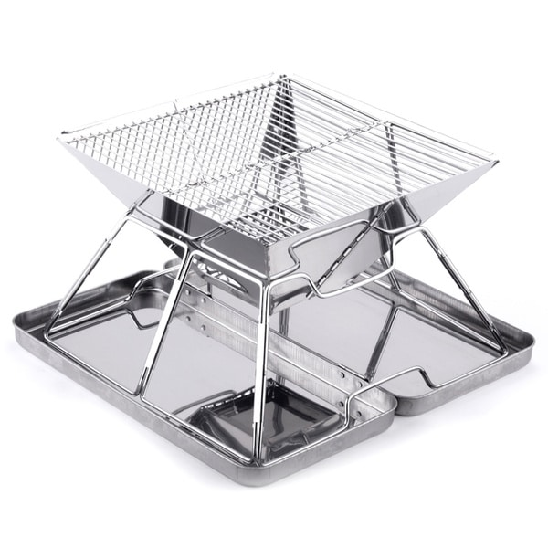 Folding Steel Portable Charcoal BBQ Grill