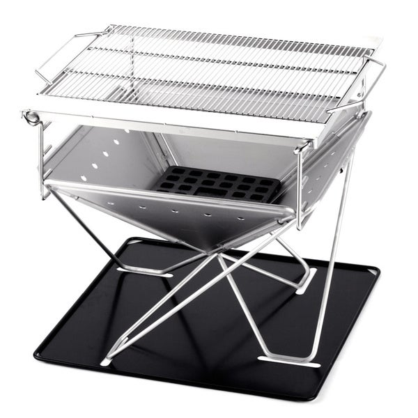 Folding Steel Portable Charcoal BBQ Grill, Large