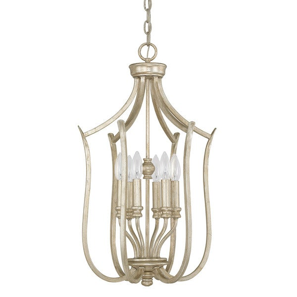 Capital Lighting Bailey Collection 6-light Winter Gold Foyer Fixture