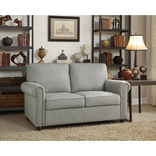 Moser Bay Furniture Belle Grey Rolled Arm Upholstered Loveseat