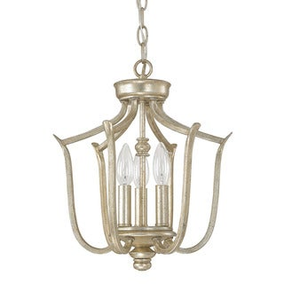 Capital Lighting Bailey Collection 3-light Winter Gold Foyer Fixture