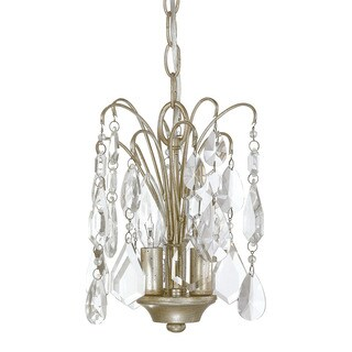 Capital Lighting Axis Collection 3-light Winter Gold Mini Chandelier