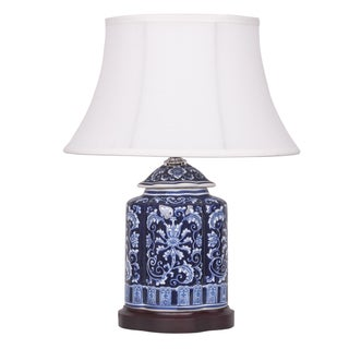 Ginger Jar Lamp with Wooden Base