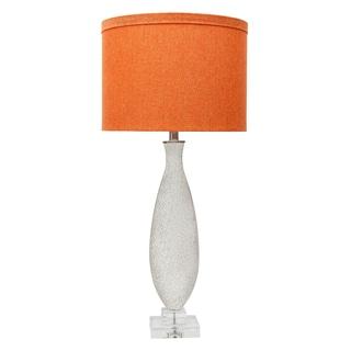 Silver Mercury Vase Lamp with Orange Shade