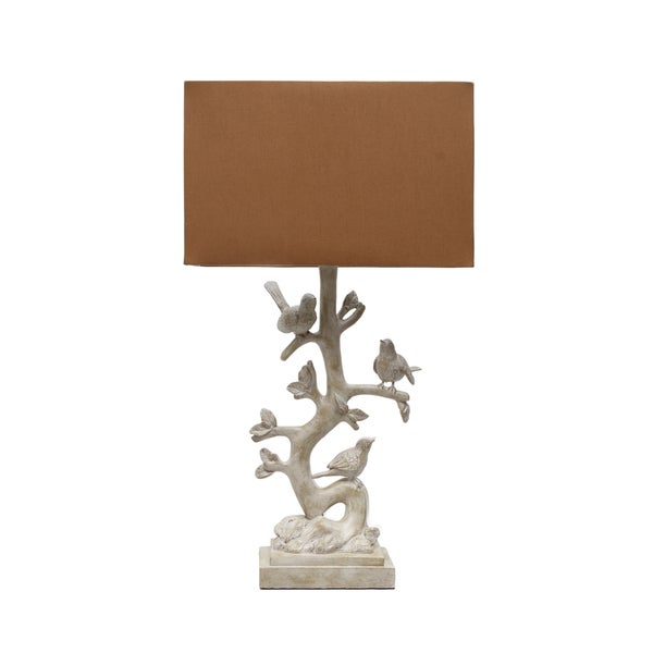 Cream Bird Branch 27-inch Lamp