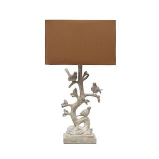 Cream Bird Branch 27-inch Lamp