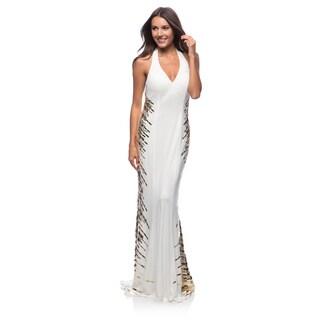 DFI Women's Long Halter Neck Dress