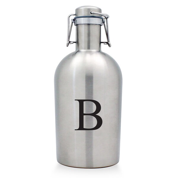 Monogrammed Stainless Steel Beer Growler