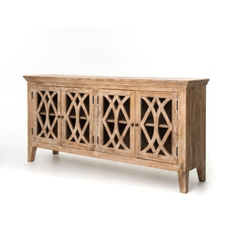 Solid Wood Sideboard Glass Cabinet