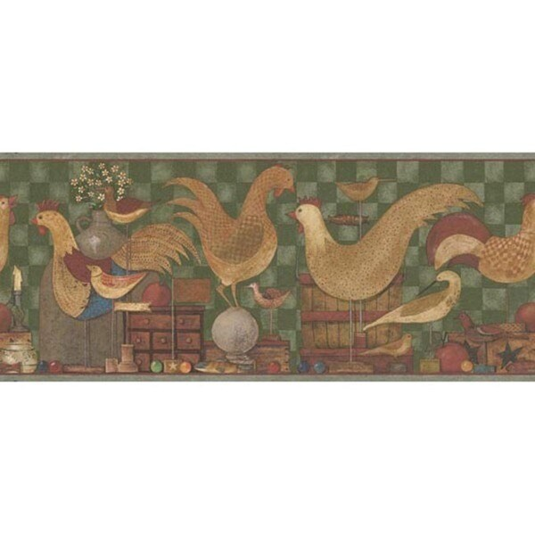 Green Country Cottage Wallpaper Border