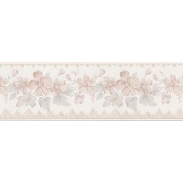 Light Pink Floral Trail Wallpaper Border