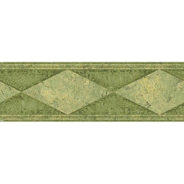 Green Diamond Wallpaper Border