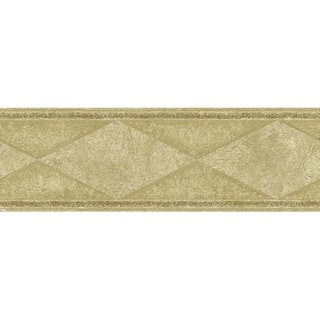 Beige Diamond Wallpaper Border