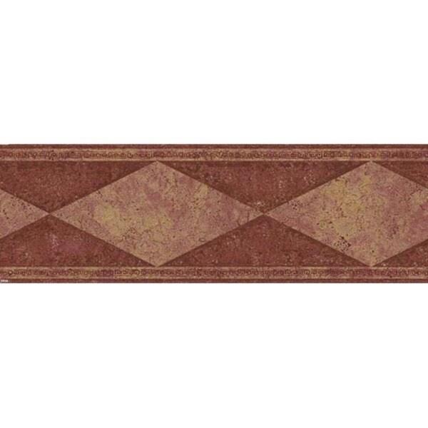 Maroon Diamond Wallpaper Border