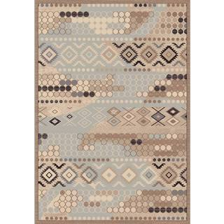 Couture Grey Tribal Area Rug (7'10 x 10'10)