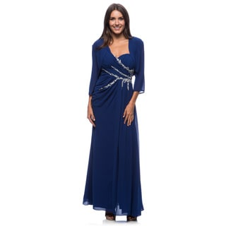 DFI Women's Evening Gown Beaded Bodice