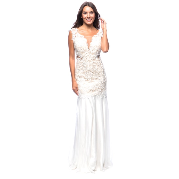 DFI Women's Evening Gown with Waise Cut-Outs