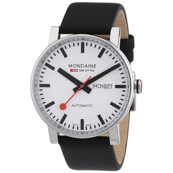 Mondaine Mens Leather Automatic Watch A1323034811SBB