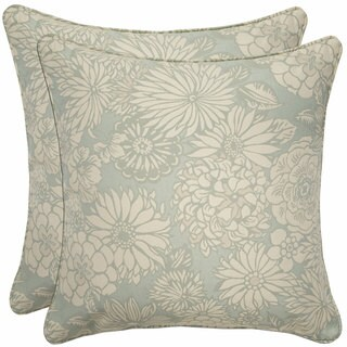 Better Living Vintage Blue Floral 20-inch Decorative Feather Down Accent Pillow (Set of 2)