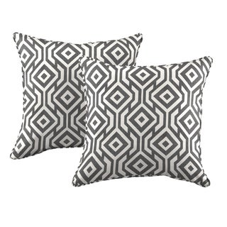 Better Living Square Charcoal Gray 20-inch Decorative Feather Down Accent Pillow (Set of 2)
