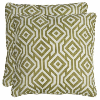 Better Living Square Mossy Green 20-inch Decorative Feather Down Accent Pillow (Set of 2)