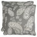 Better Living Grey Paisley 20-inch Decorative Feather Down Accent Pillow (Set of 2)