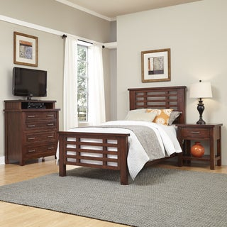 Cabin Creek Twin Bed, Night Stand, and Media Chest