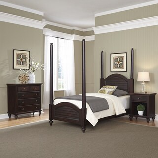 Home Styles Bermuda Twin Poster Bed, Night Stand, and Chest